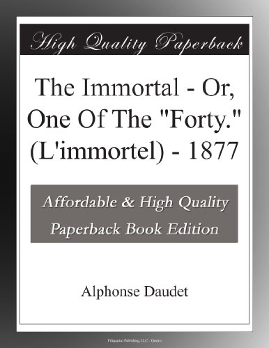The Immortal Or, One O...