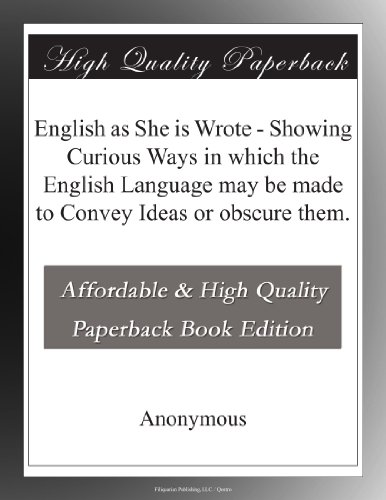 English as She is Wrote