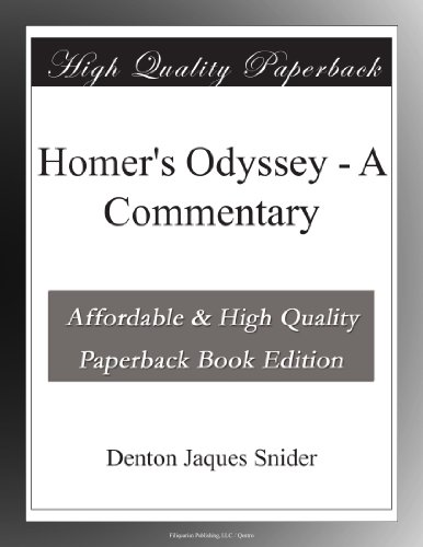Homer's Odyssey A Commentary