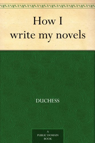 How I write my novels
