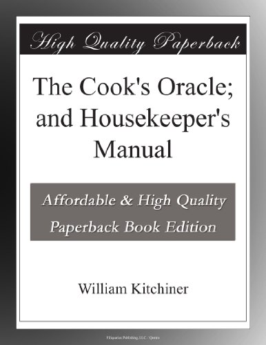 The Cook's Oracle; and...