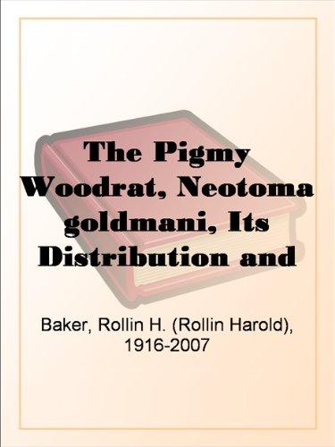 The Pigmy Woodrat, Neo...