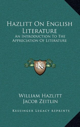 Hazlitt on English Lit...