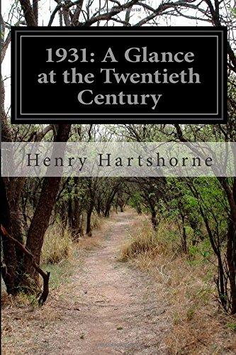 1931: A Glance at the Twentieth Century