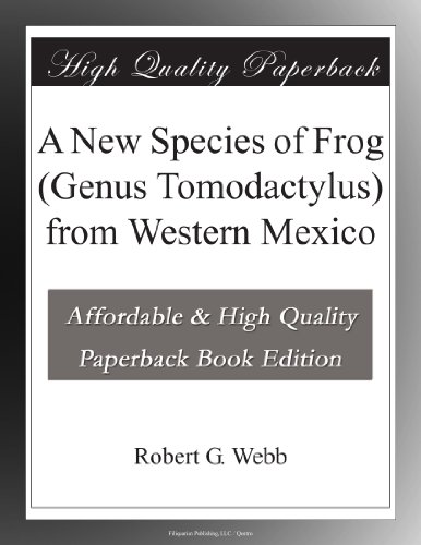 A New Species of Frog (Genus Tomodactylus) from Western México