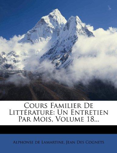 Cours familier de Littérature - Volume 18