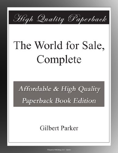 The World for Sale, Co...
