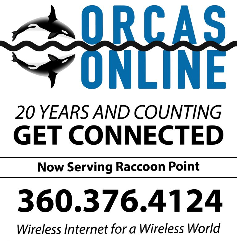 Orcas Online 20 years in business and counting. Get Connected