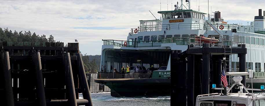 Washington State Ferry boat at Orcas Island