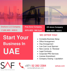 VISA Services in Dubai and UAE by SAF Business Setup
