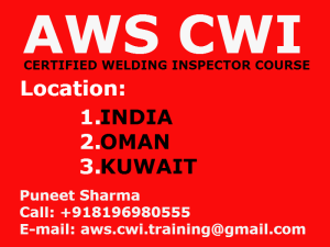 AWS CWI Training Institute, Phase 2, Industrial Area, Plot