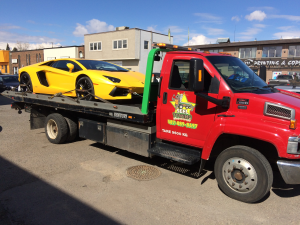 Low Profile Sports Car Towing by SEEL Towing & Recovery