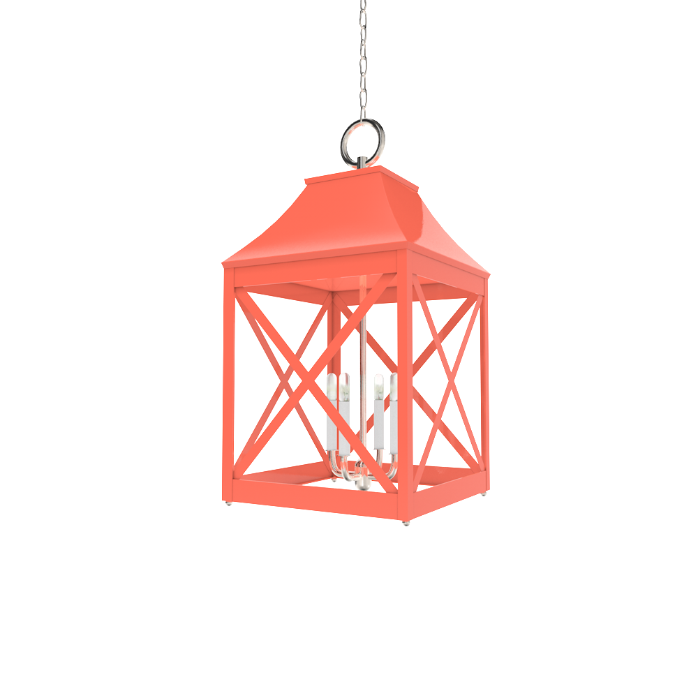 Essex Lantern Nickel   Lighting