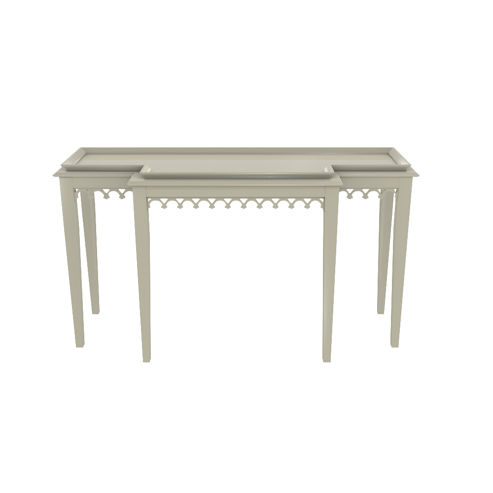Miraculous Carved Tiered Console Table Sofa Table High End Console Gmtry Best Dining Table And Chair Ideas Images Gmtryco
