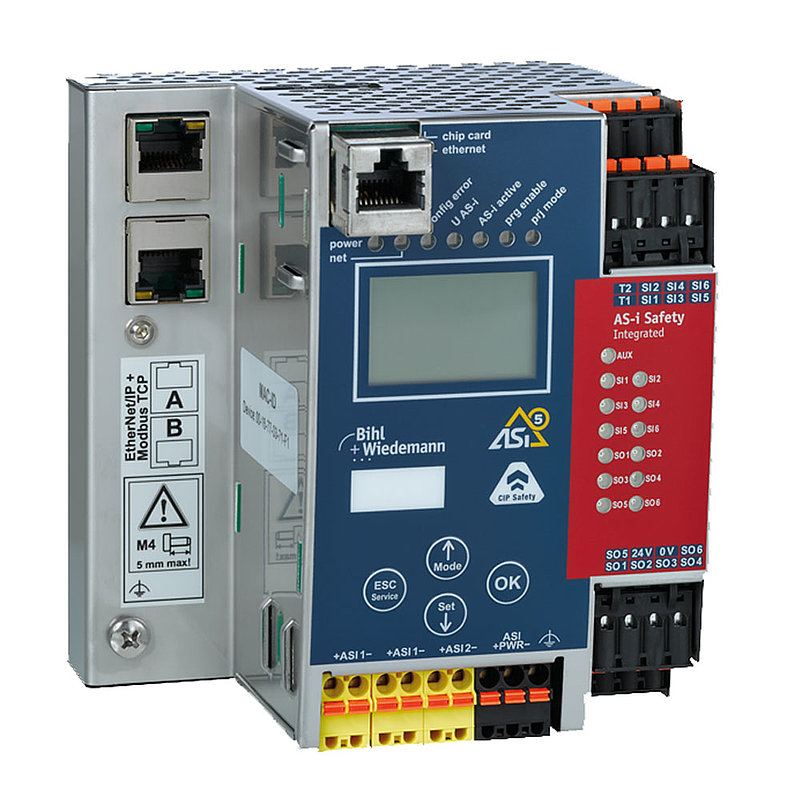 ASi-5/ASi-3 CIP Safety over EtherNet/IP + ModbusTCP + OPC UA Gateway with integrated Safety Monitor