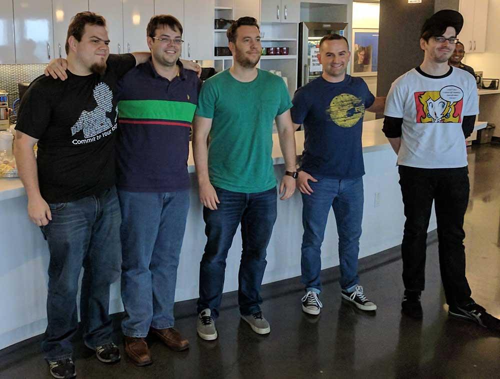 Operation Code developers pose at AngelHack Boston 2017.