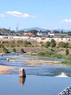 Platte river in business park small