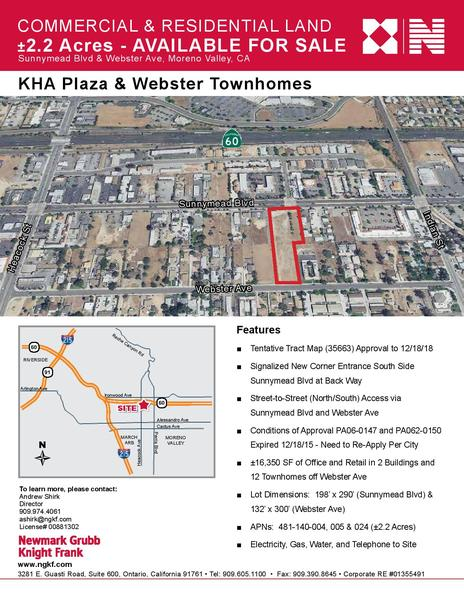 Kha plaza   webster townhomes %282.2 acres%29 10 12 16 page 001 content