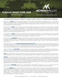 Foreign trade zone small