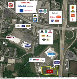 Middletown  oh retail land small