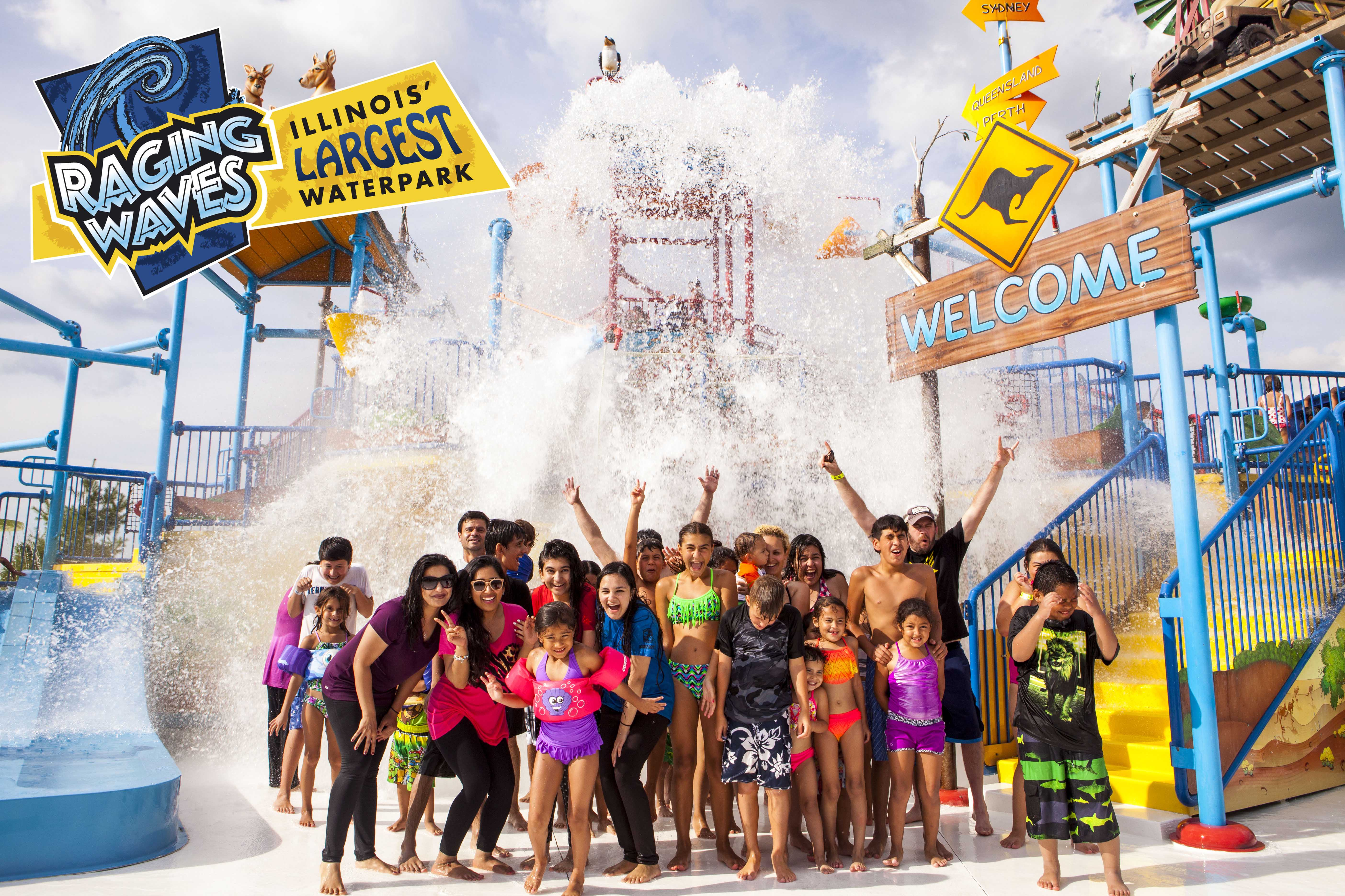 Raging Waves Illinois Largest Waterpark - Map of us water parks