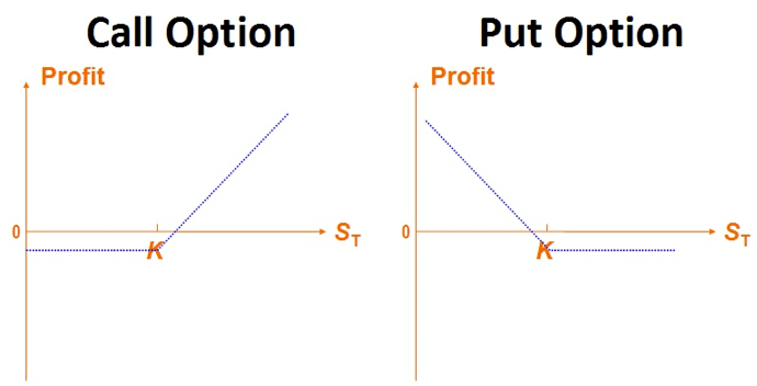 Put and call options in stock market