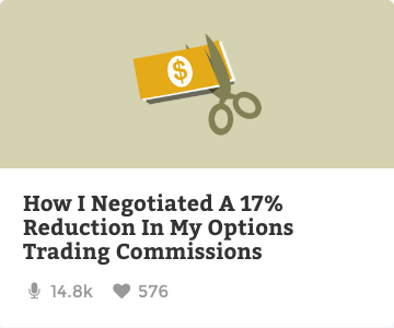 How I negotiated a 17% reduction in my options trading commissions