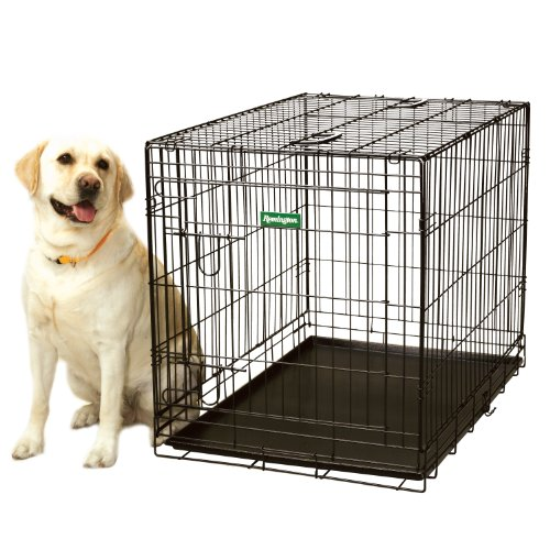 Large Black Wire Dog Crate | Remington Wire Kennel Extra Large 42x26x28 5 Lwh Rem42c Check