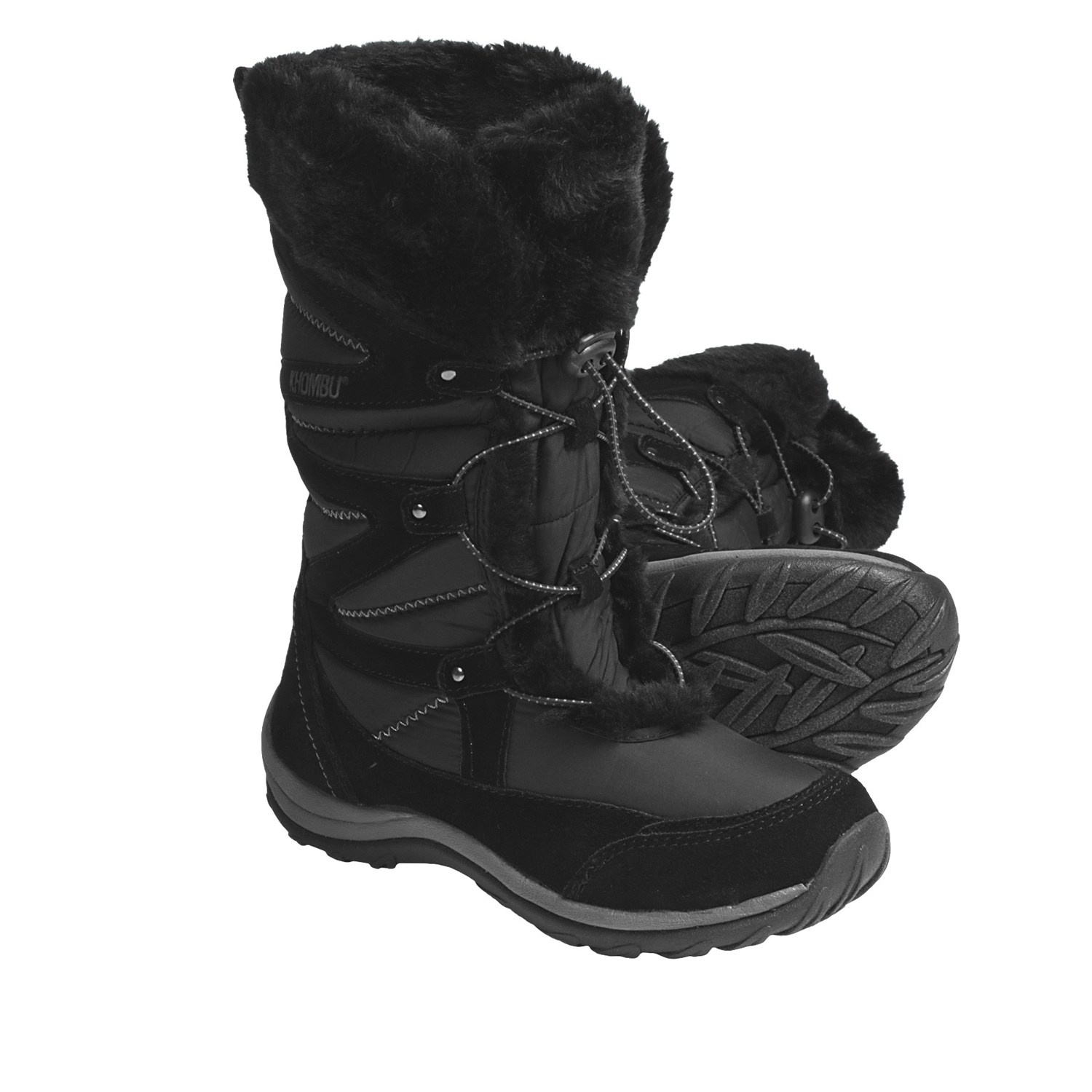 Khombu Ladies Marker Women's Winter Boots - Size: 6 - Black ...