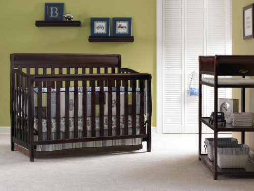 lajobi graco stanton 4in1 convertible crib classic cherry