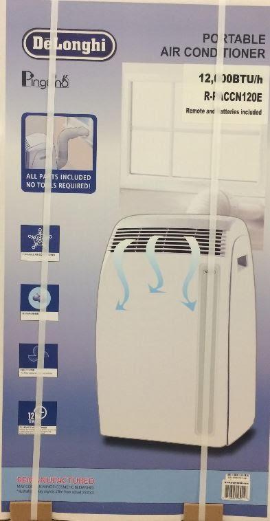 delonghi pac a120e 12000btu portable air conditioner paccn120e