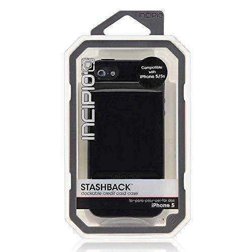 Incipio Stashback Case for iPhone 5 5s - Obsidian Black (IPH-068) ... 378b90749