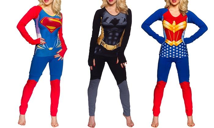 287763b33d ... Supergirl Anatomical Pajama Set - Red Blue - S