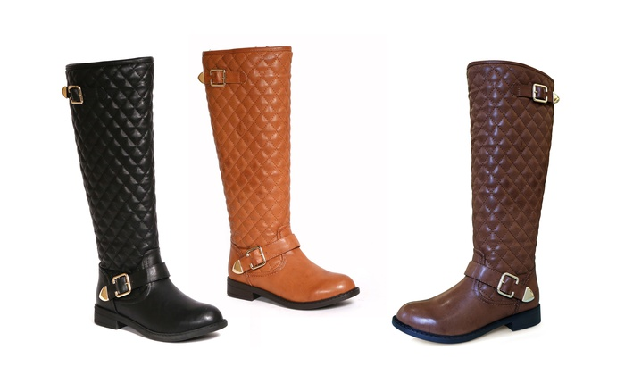 Bucco Marena Ladies' Quilted Boots: Brown (Size 9), - Check Back ... : quilted brown boots - Adamdwight.com