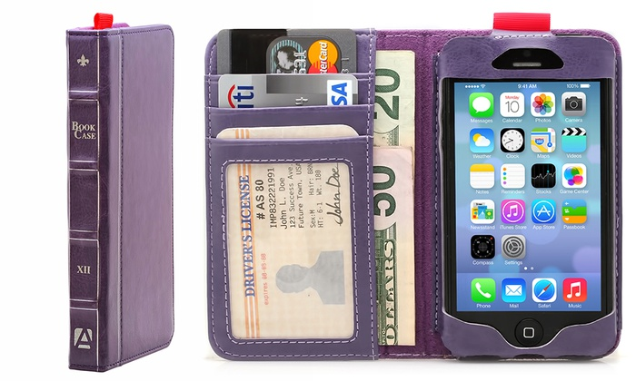 new style 219eb 6dfd9 Aduro BookCase Folio & Wallet Case for iPhone 6 Plus: Black, - Check ...