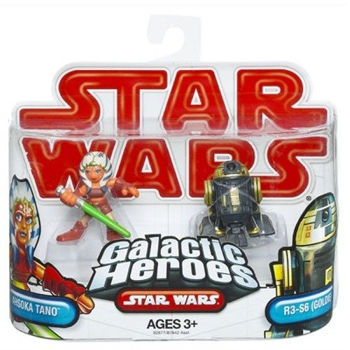 Star wars 2009 galactic heroes 2 pack ahsoka tano and r3 for Goldie s motors inventory