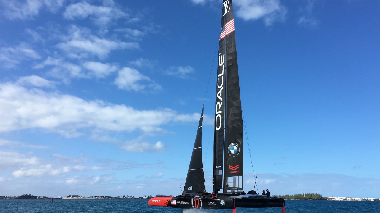 ORACLE TEAM USA returns to the Great Sound for the first time in 2016.