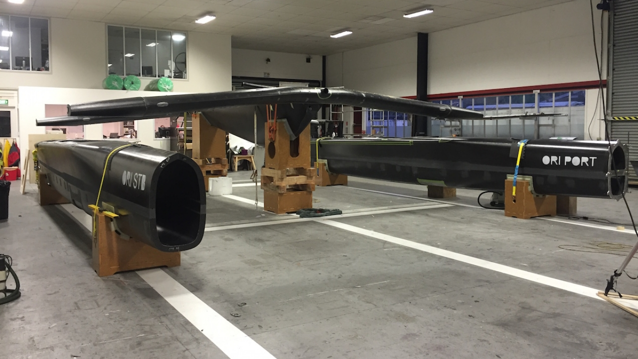 ORACLE TEAM USA is hard at work completing its new America's Cup Class boat for launch early in 2017.