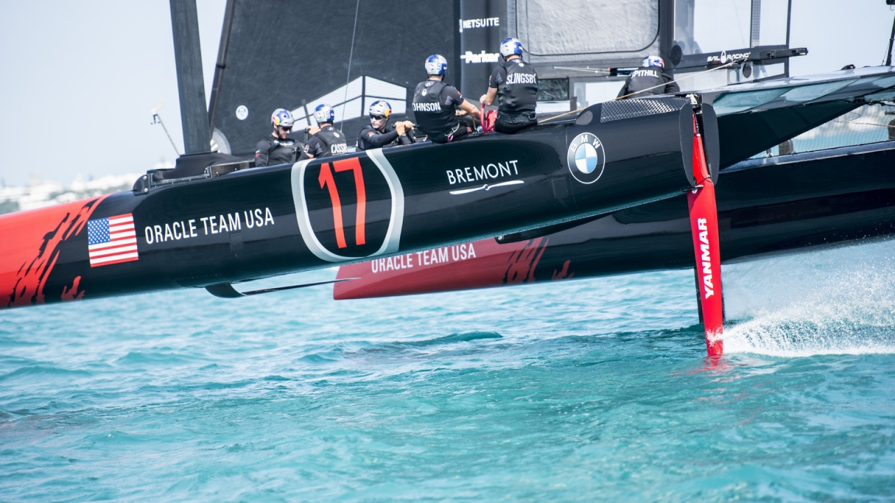 Hamilton (BDA) - 35th America's Cup Bermuda 2017 - ORACLE TEAM USA - AC45S training