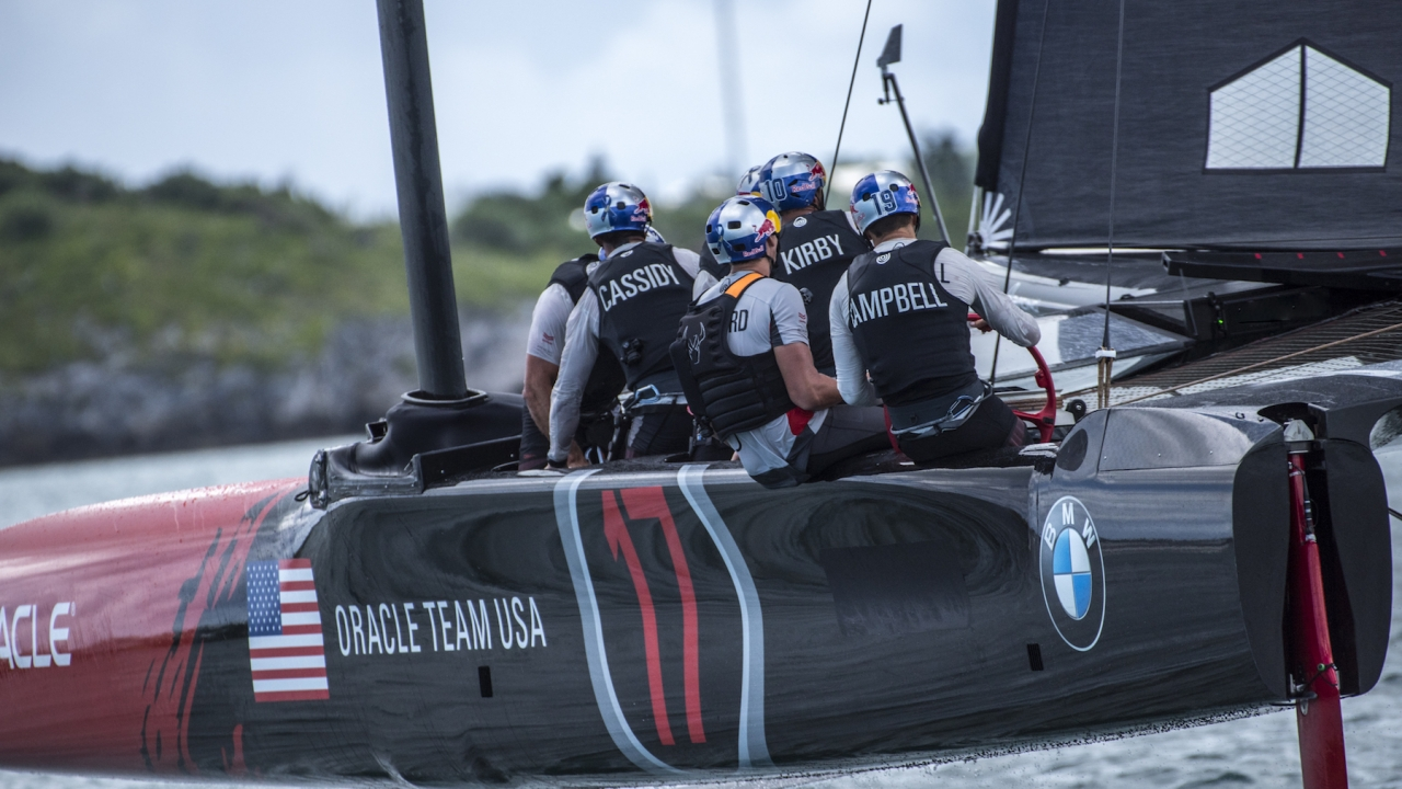 AC45S training in Bermuda. Photo by Sam Greenfield / © ORACLE TEAM USA