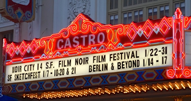 Castro Theatre at night