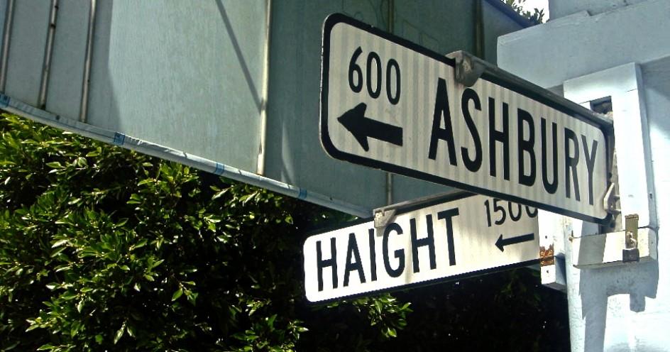 Tour the landmark Haight Ashbury sign in San Francisco, CA.