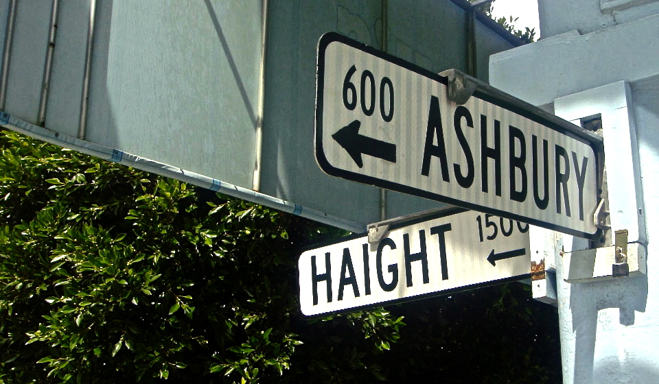 Tour the landmark Haight Ashbury sign in San Francisco, CA.
