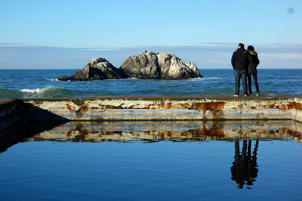 Reflecting Couple at the Sutro Baths