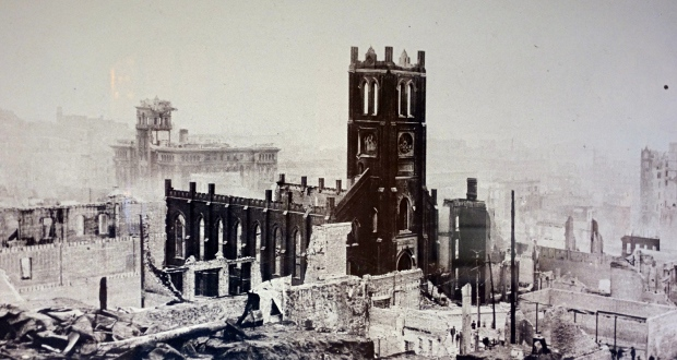 Old Saint Mary Church after 1906 Earthquake