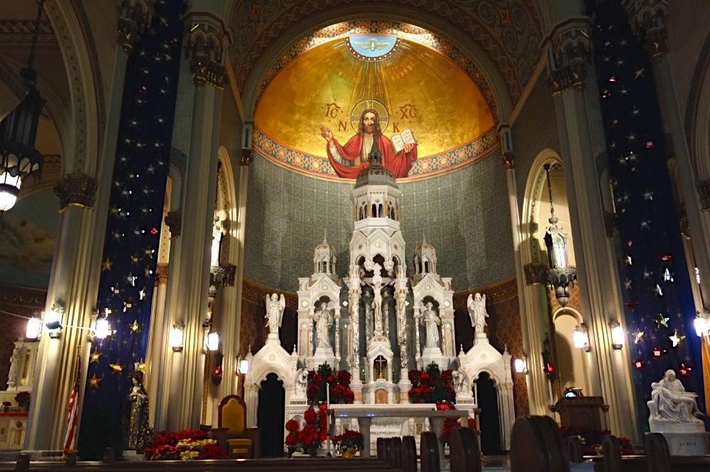 Inside North Beach White Church
