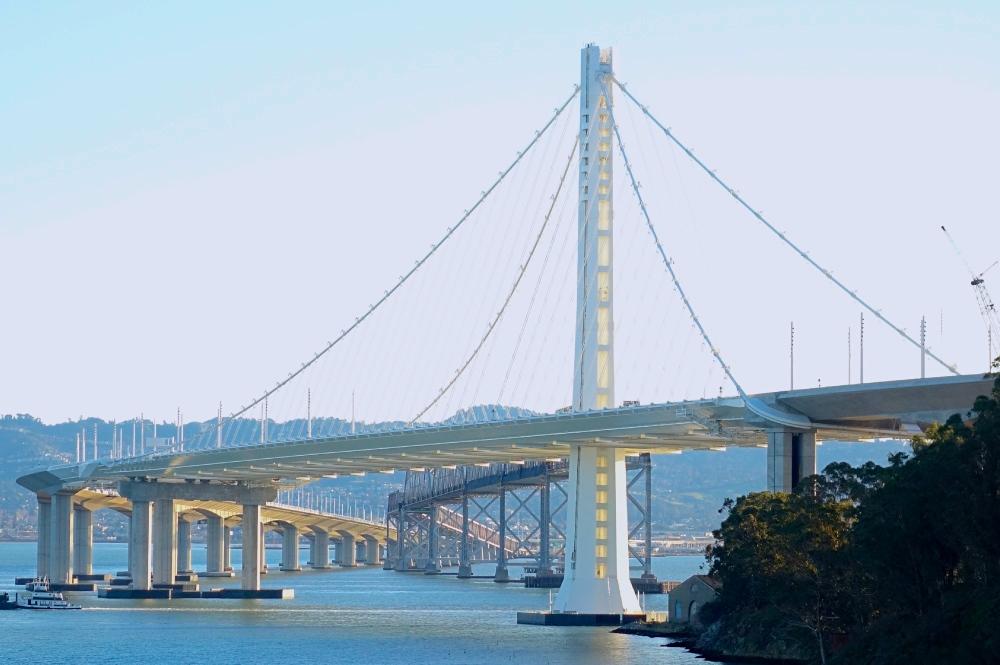 Bay Bridge White Span