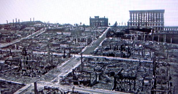 1906 earthquake and fire ruins, San Francisco.