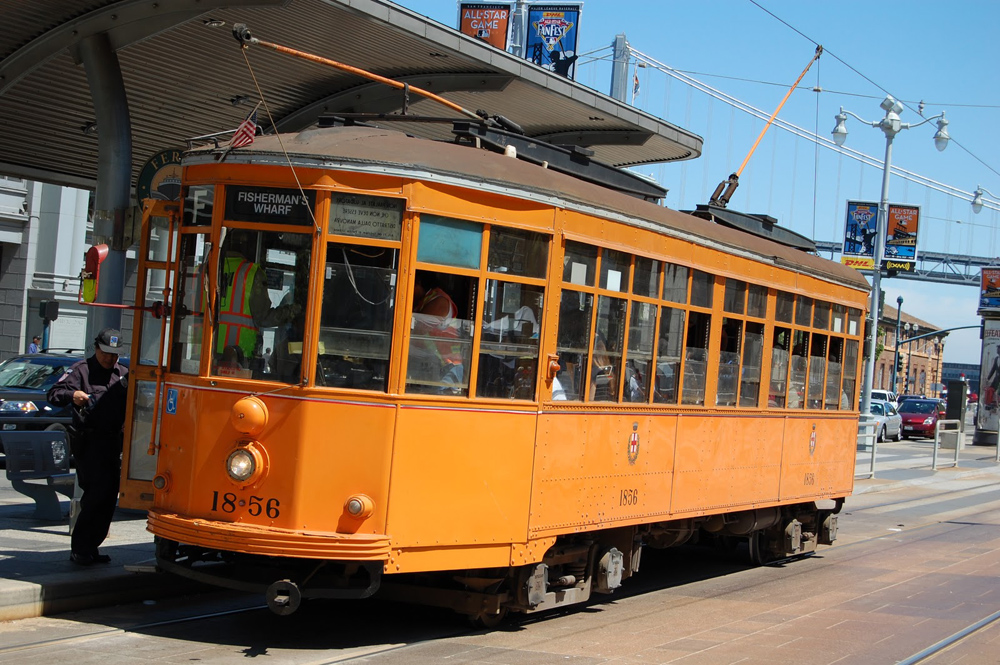 Beautiful F-Line Car San Francisco Tours