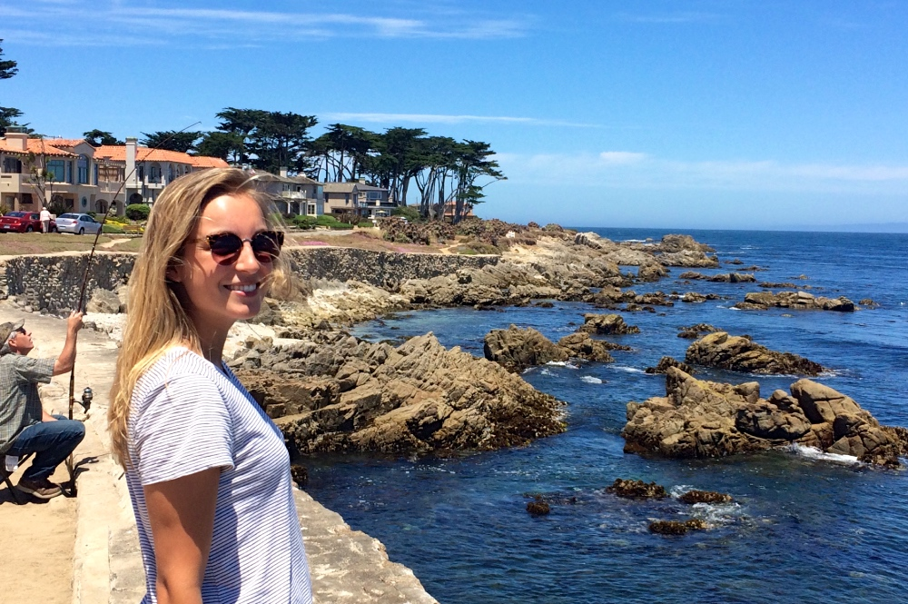 Solo Female Traveler on California Coast Tour